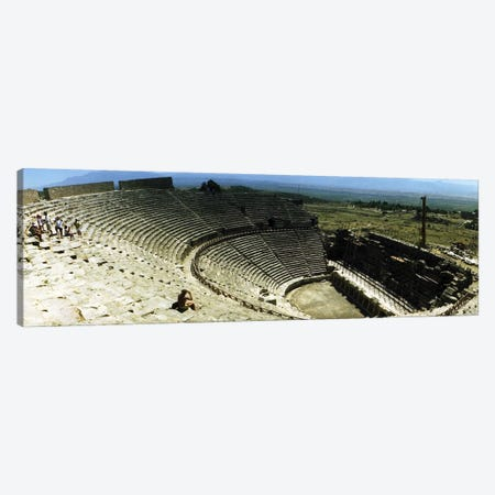 Ancient theatre in the ruins of Hierapolis, Pamukkale, Denizli Province, Turkey Canvas Print #PIM10909} by Panoramic Images Canvas Art Print