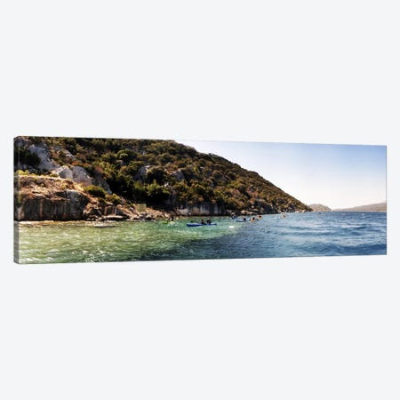 People kayaking in the Mediterranean sea, Sunken City, Kekova, Antalya Province, Turkey Canvas Print #PIM10916} by Panoramic Images Canvas Art Print