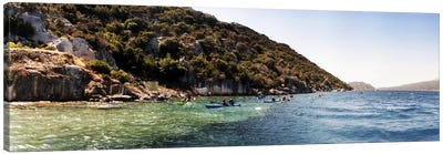 People kayaking in the Mediterranean sea, Sunken City, Kekova, Antalya Province, Turkey Canvas Print #PIM10916