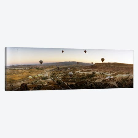 Hot air balloons over landscape at sunrise, Cappadocia, Central Anatolia Region, Turkey #5 Canvas Print #PIM10941} by Panoramic Images Art Print