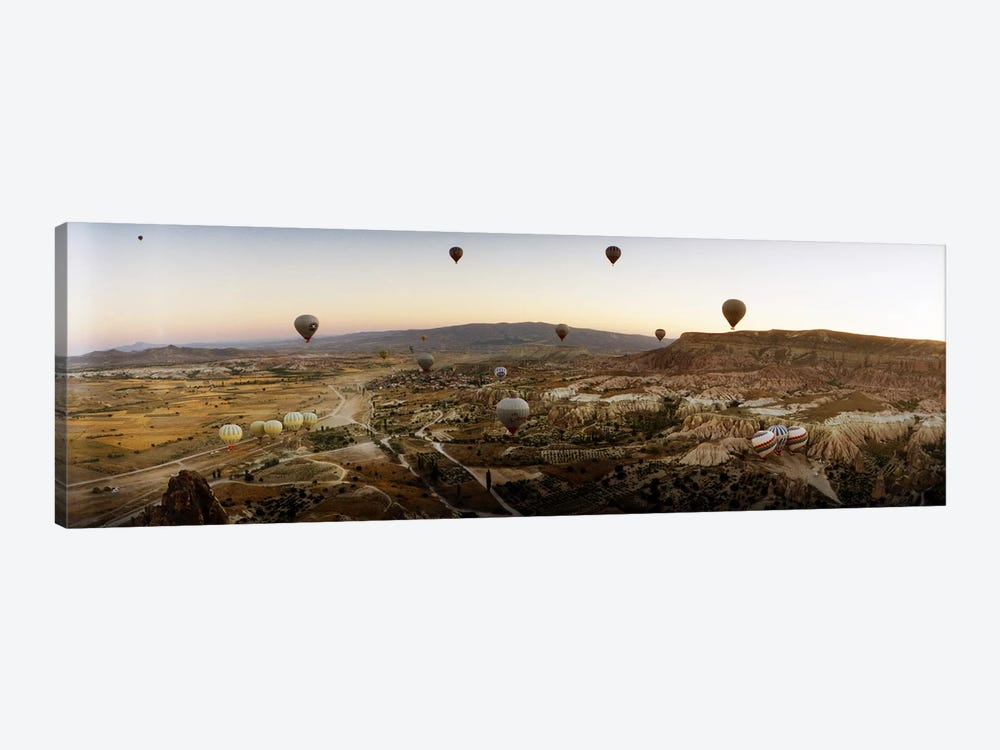 Hot air balloons over landscape at sunrise, Cappadocia, Central Anatolia Region, Turkey #5 by Panoramic Images 1-piece Art Print
