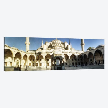 Courtyard of Blue Mosque in Istanbul, Turkey Canvas Print #PIM10943} by Panoramic Images Art Print