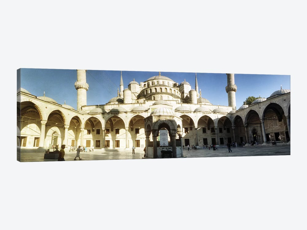 Courtyard of Blue Mosque in Istanbul, Turkey by Panoramic Images 1-piece Canvas Print