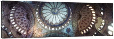 Interiors of a mosque, Blue Mosque, Istanbul, Turkey #2 Canvas Art Print