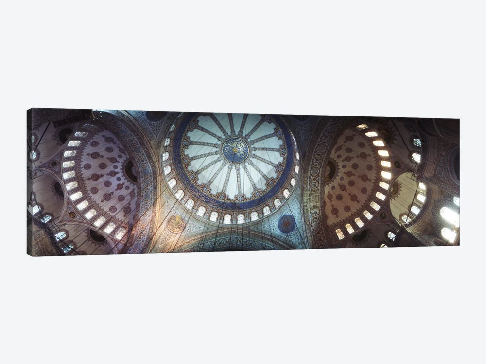 Interiors of a mosque, Blue Mosque, Istanbul, Turkey #2 by Panoramic Images 1-piece Canvas Art