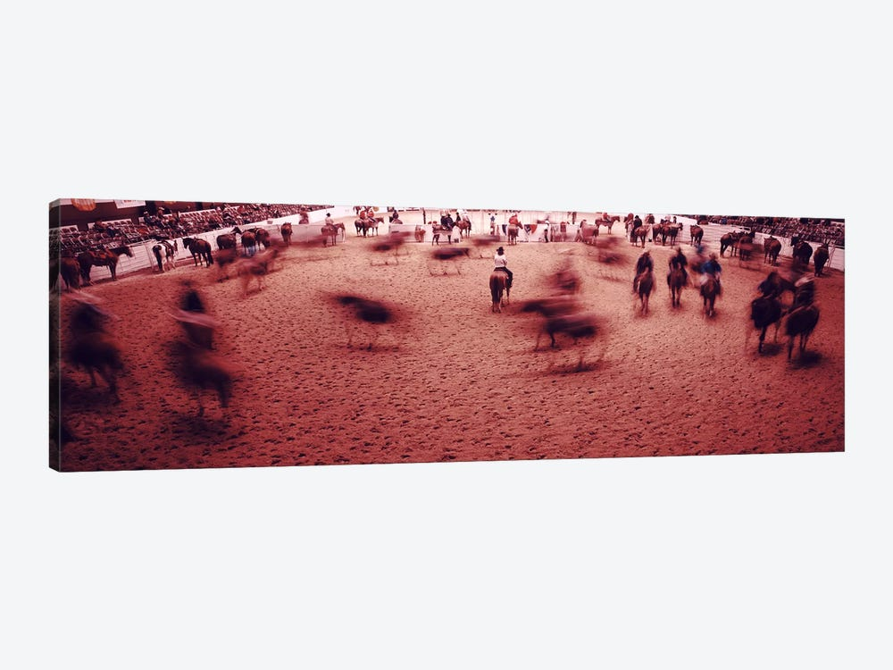 Rodeo arena, Fort Worth Stock Show and Rodeo, Fort Worth, Texas, USA by Panoramic Images 1-piece Art Print