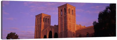 Low angle view of Royce Hall at university campus, University of California, Los Angeles, California, USA Canvas Print #PIM10948