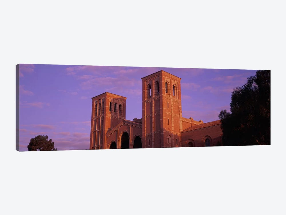Low angle view of Royce Hall at university campus, University of California, Los Angeles, California, USA by Panoramic Images 1-piece Canvas Art