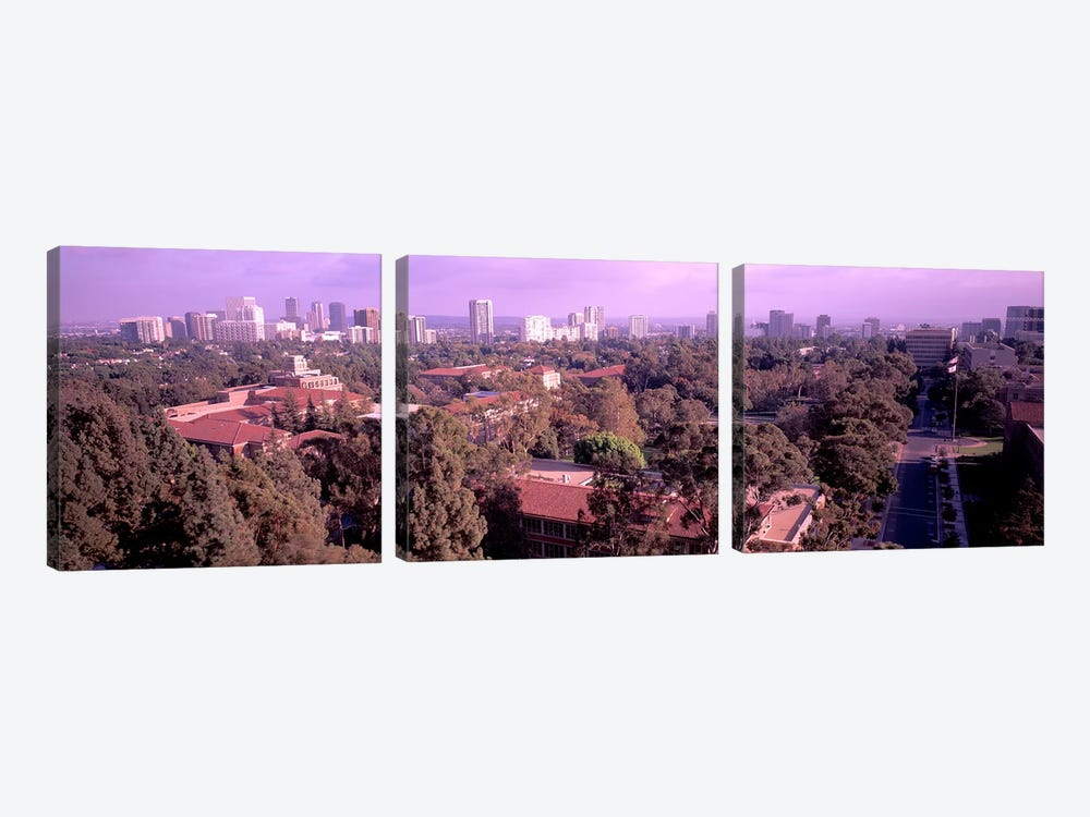 University campus, University Of California, Los Angeles, California, USA by Panoramic Images 3-piece Art Print