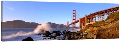 Bridge across the bay, San Francisco Bay, Golden Gate Bridge, San Francisco, Marin County, California, USA Canvas Print #PIM1094