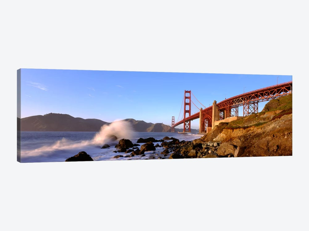 Bridge across the bay, San Francisco Bay, Golden Gate Bridge, San Francisco, Marin County, California, USA by Panoramic Images 1-piece Art Print
