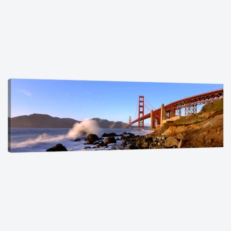 Bridge across the bay, San Francisco Bay, Golden Gate Bridge, San Francisco, Marin County, California, USA Canvas Print #PIM1094} by Panoramic Images Canvas Print