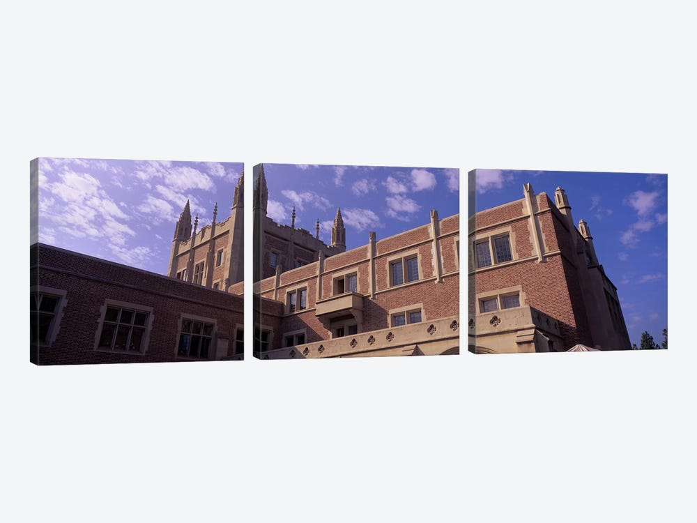 Low angle view of Kerckhoff Hall, University of California, Los Angeles, California, USA 3-piece Canvas Artwork
