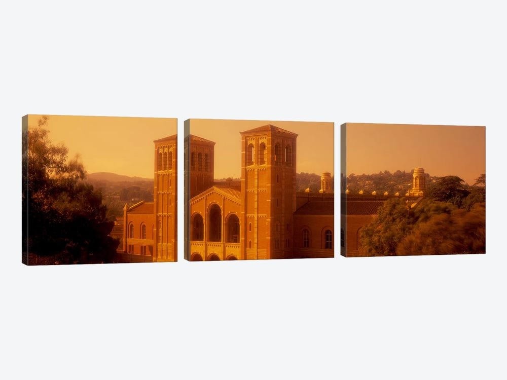 Royce Hall at an university campus, University of California, Los Angeles, California, USA by Panoramic Images 3-piece Canvas Print