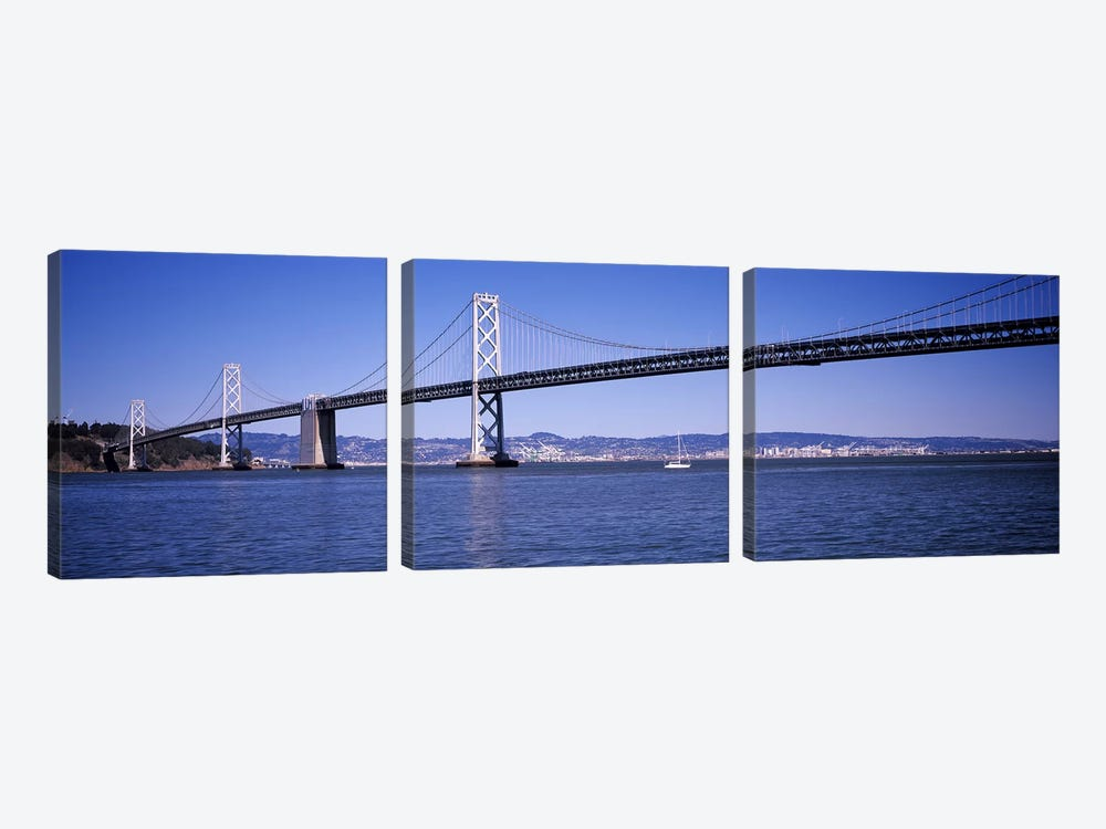 The Bay Bridge, San Francisco, CA by Panoramic Images 3-piece Canvas Art Print