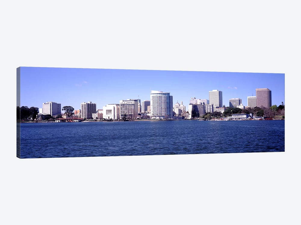 Skyscrapers in a lake, Lake Merritt, Oakland, California, USA by Panoramic Images 1-piece Canvas Art