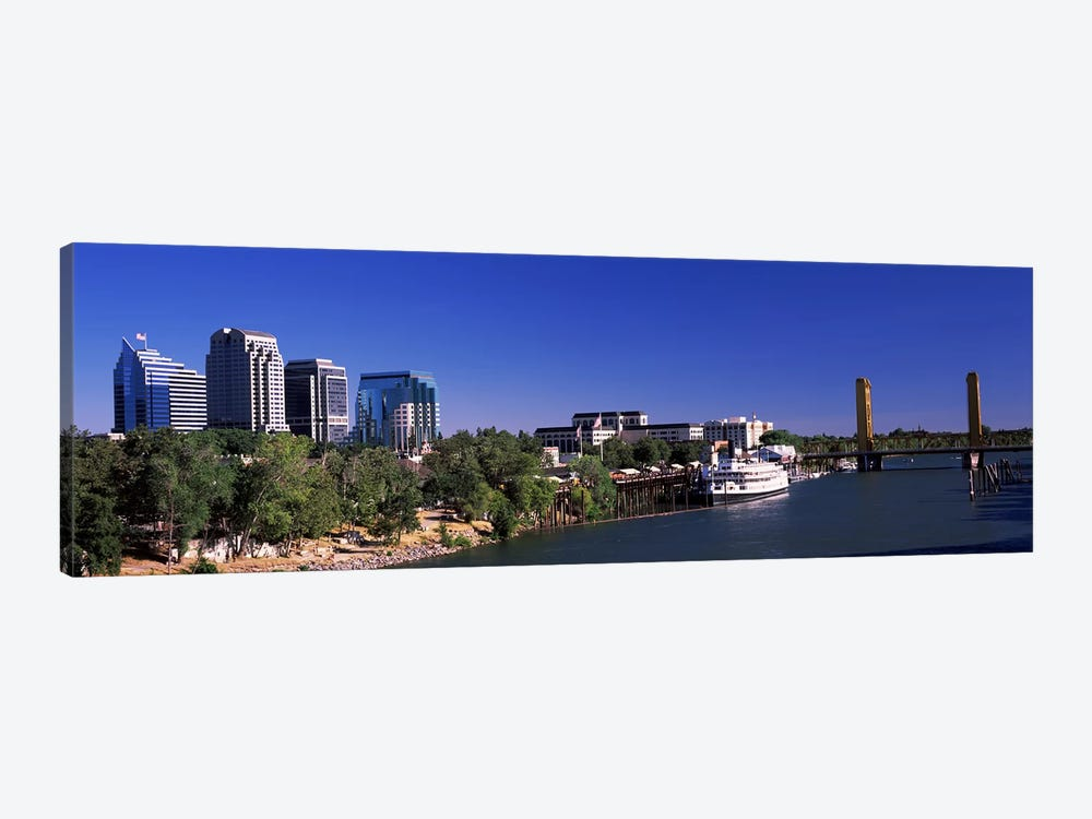 Downtown and Tower Bridge, Sacramento, CA, USA by Panoramic Images 1-piece Canvas Artwork