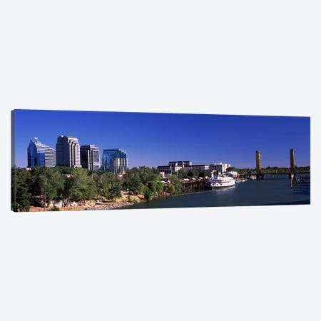 Downtown and Tower Bridge, Sacramento, CA, USA Canvas Print #PIM10966} by Panoramic Images Canvas Art