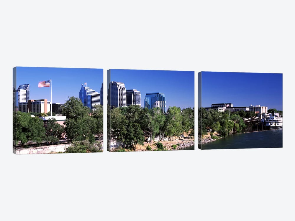 Downtown Sacramento, CA, USA by Panoramic Images 3-piece Canvas Art Print