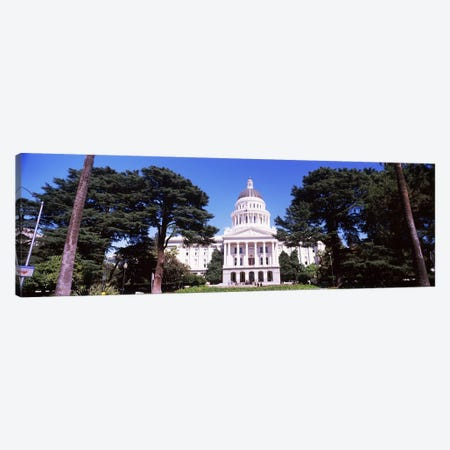 Facade of a government building, California State Capitol Building, Sacramento, California, USA Canvas Print #PIM10968} by Panoramic Images Art Print