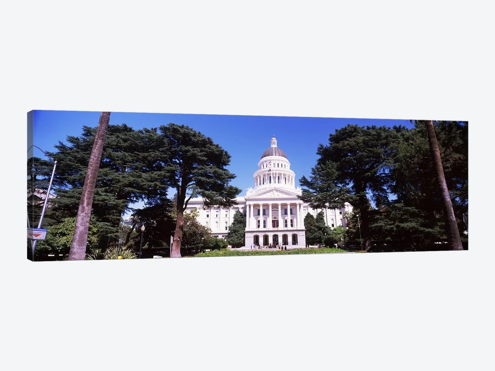 Facade of a government building, California State Capitol Building, Sacramento, California, USA by Panoramic Images 1-piece Canvas Wall Art
