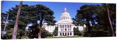 Facade of a government building, California State Capitol Building, Sacramento, California, USA Canvas Art Print