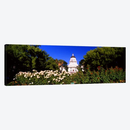Facade of a government building, California State Capitol Building, Sacramento, California, USA #2 Canvas Print #PIM10969} by Panoramic Images Canvas Art Print