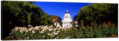 Facade of a government building, California State Capitol Building, Sacramento, California, USA #2 Canvas Print #PIM10969