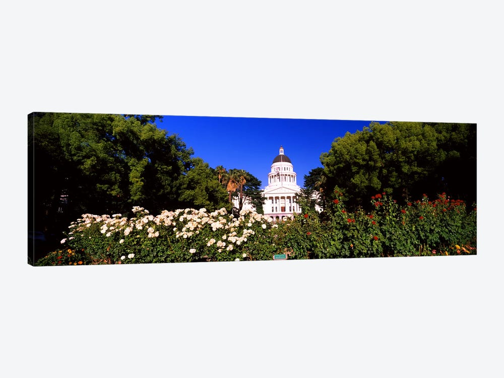 Facade of a government building, California State Capitol Building, Sacramento, California, USA #2 1-piece Canvas Art Print