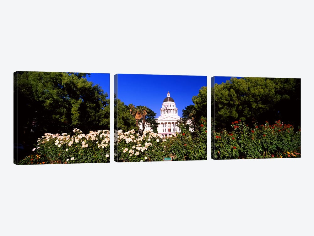 Facade of a government building, California State Capitol Building, Sacramento, California, USA #2 by Panoramic Images 3-piece Art Print