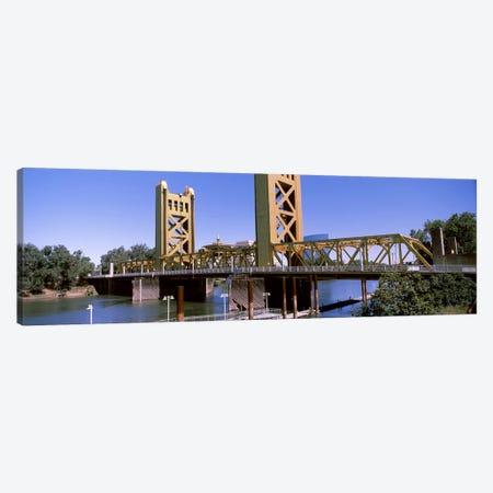 Tower Bridge, Sacramento, CA, USA Canvas Print #PIM10970} by Panoramic Images Canvas Wall Art