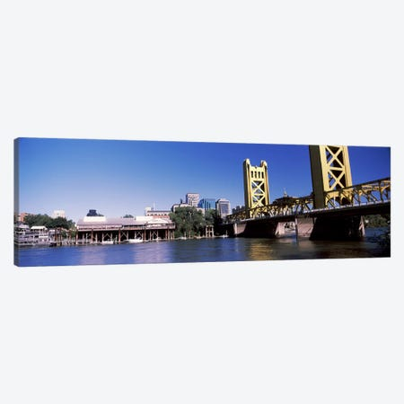 Tower Bridge, Sacramento, CA, USA #2 Canvas Print #PIM10971} by Panoramic Images Canvas Artwork