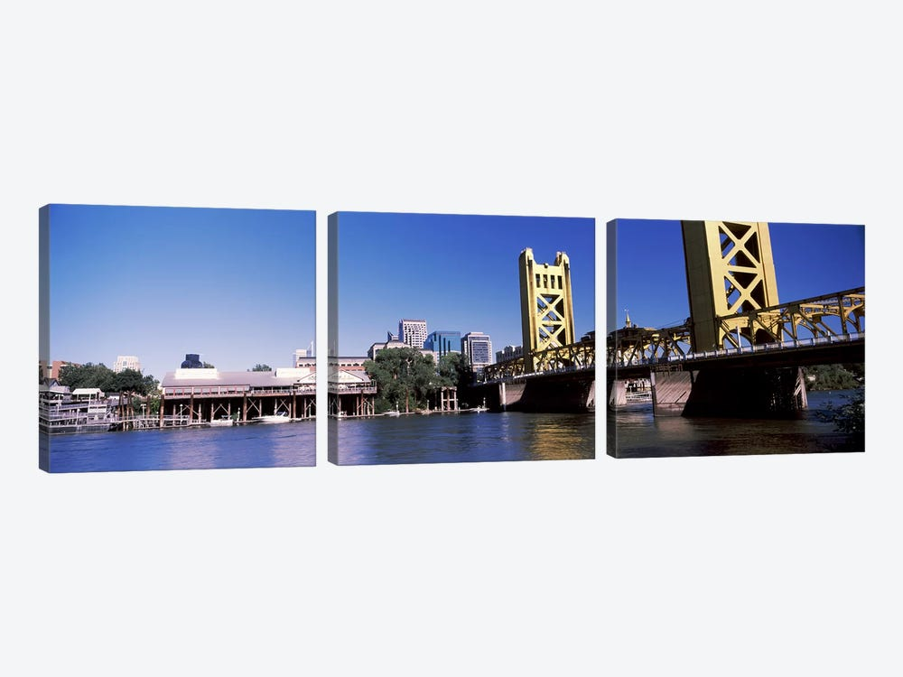 Tower Bridge, Sacramento, CA, USA #2 by Panoramic Images 3-piece Canvas Wall Art