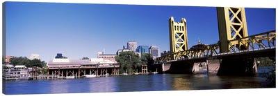 Tower Bridge, Sacramento, CA, USA #2 Canvas Art Print