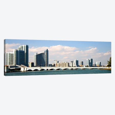 Buildings at the waterfront, Miami, Florida, USA Canvas Print #PIM10973} by Panoramic Images Canvas Wall Art