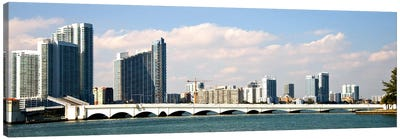 Buildings at the waterfront, Miami, Florida, USA Canvas Art Print