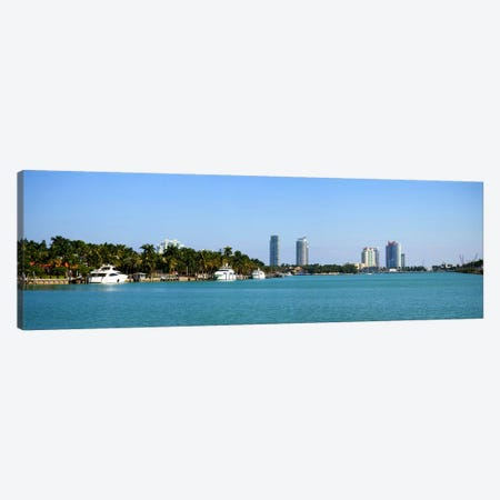 Buildings at the waterfront, Miami, Florida, USA #2 Canvas Print #PIM10974} by Panoramic Images Art Print