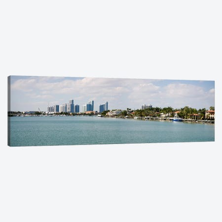 Buildings at the waterfront, Miami, Florida, USA #3 Canvas Print #PIM10975} by Panoramic Images Canvas Art Print