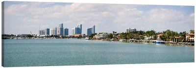 Buildings at the waterfront, Miami, Florida, USA #3 Canvas Art Print