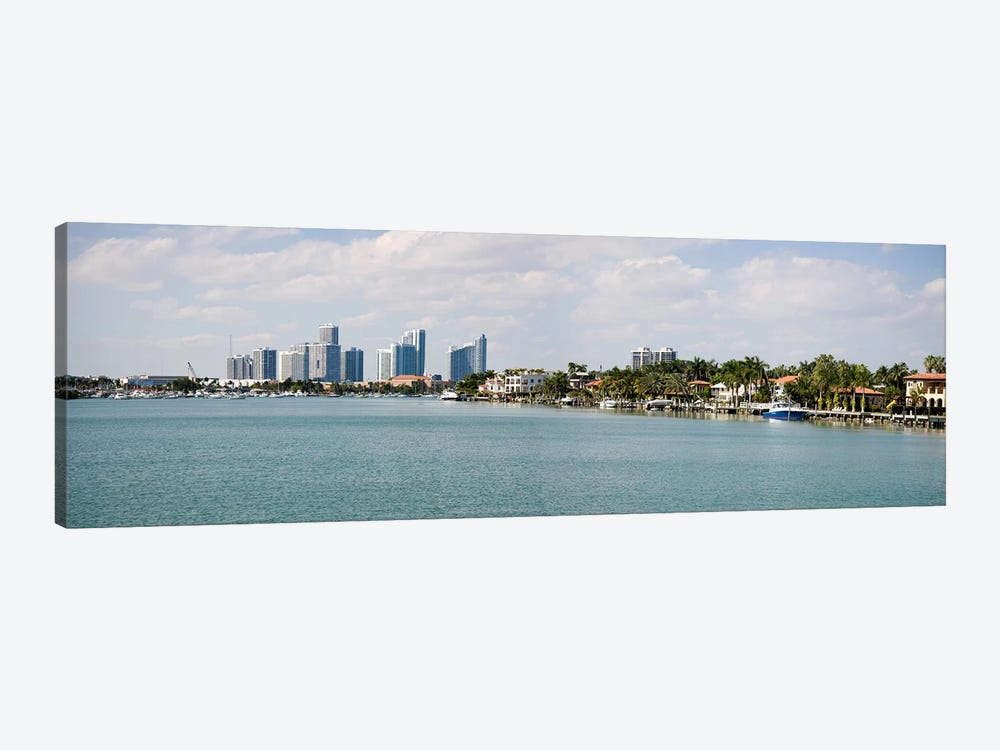 Buildings at the waterfront, Miami, Florida, USA #3 by Panoramic Images 1-piece Canvas Artwork