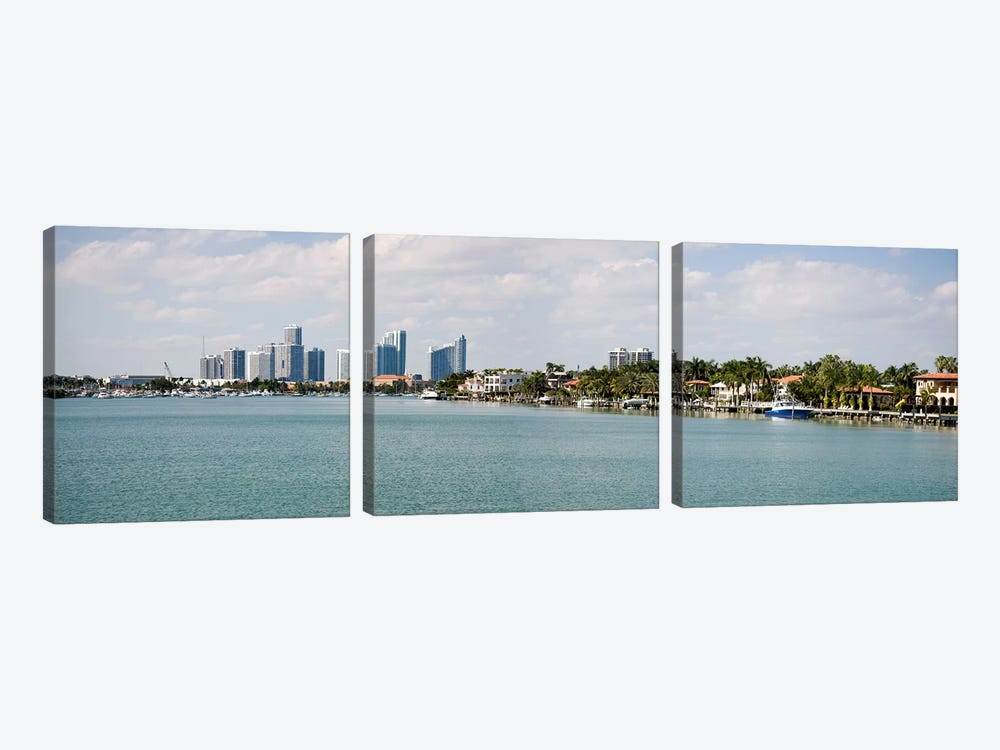 Buildings at the waterfront, Miami, Florida, USA #3 by Panoramic Images 3-piece Canvas Art