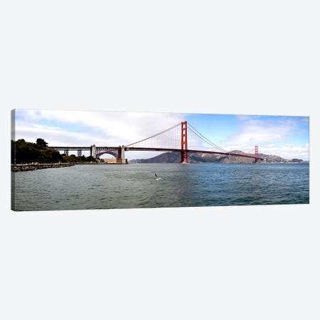 Suspension bridge across the sea, Golden Gate Bridge, San Francisco, California, USA Canvas Print #PIM10976} by Panoramic Images Art Print