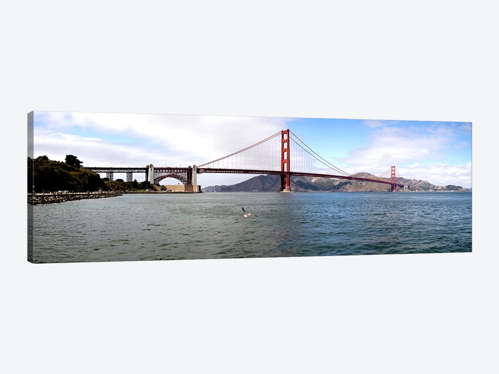 Suspension bridge across the sea, Golden Gate Bridge, San Francisco, California, USA by Panoramic Images 1-piece Canvas Print