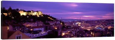 Rooftop View Of Alfama District, Lisbon, Portugal Canvas Print #PIM1097