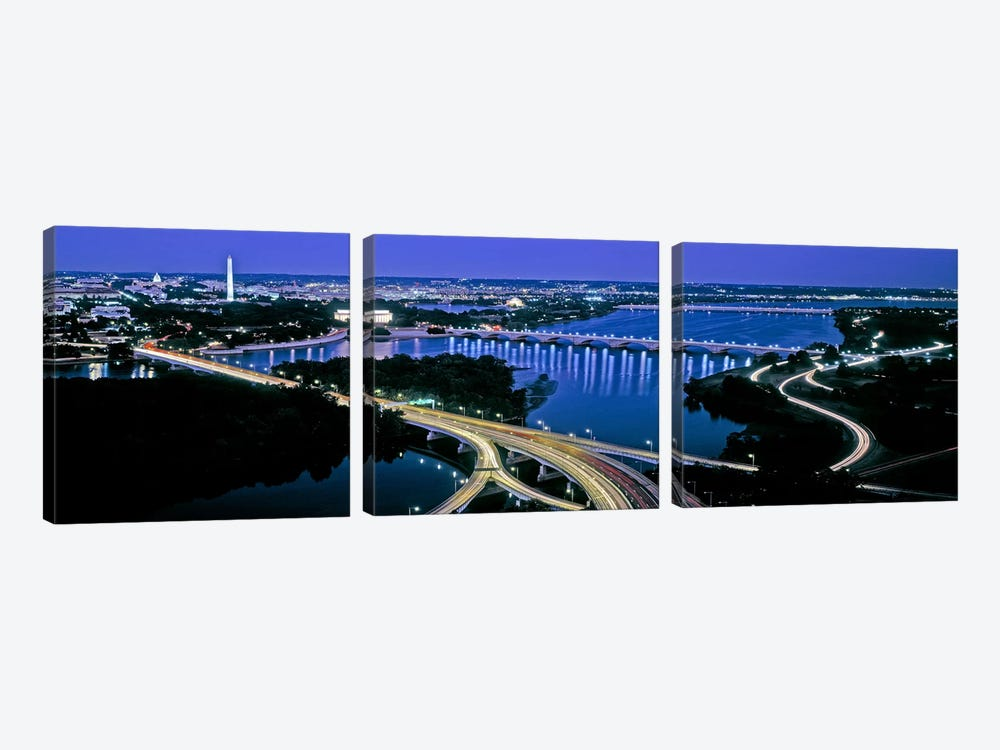 High angle view of a city, Washington DC, USA by Panoramic Images 3-piece Canvas Print
