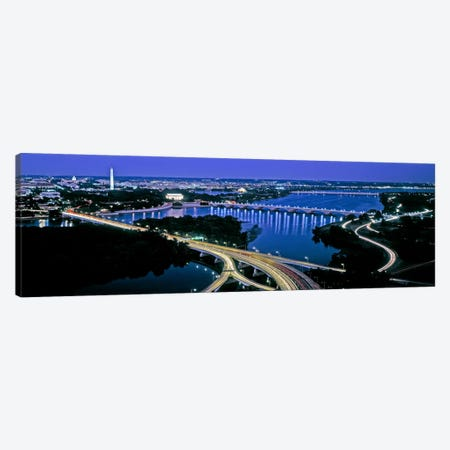 High angle view of a city, Washington DC, USA 3-Piece Canvas #PIM10981} by Panoramic Images Canvas Print