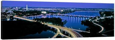 High angle view of a city, Washington DC, USA Canvas Art Print