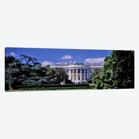 Facade of the government building, White House, Washington DC, USA Canvas Print #PIM10982} by Panoramic Images Canvas Art Print