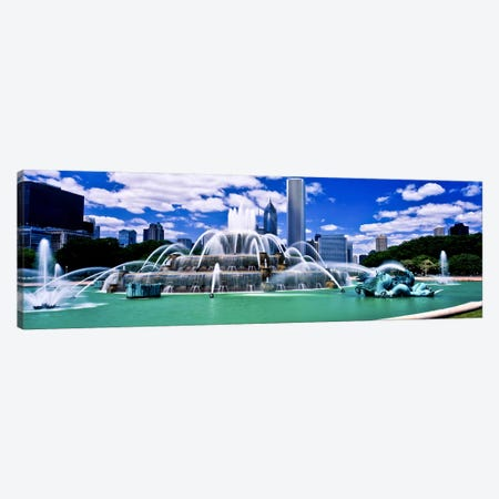 Buckingham Fountain in Grant Park, Chicago, Cook County, Illinois, USA Canvas Print #PIM10983} by Panoramic Images Canvas Art Print
