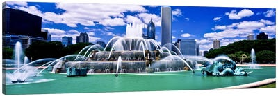 Buckingham Fountain in Grant Park, Chicago, Cook County, Illinois, USA Canvas Art Print
